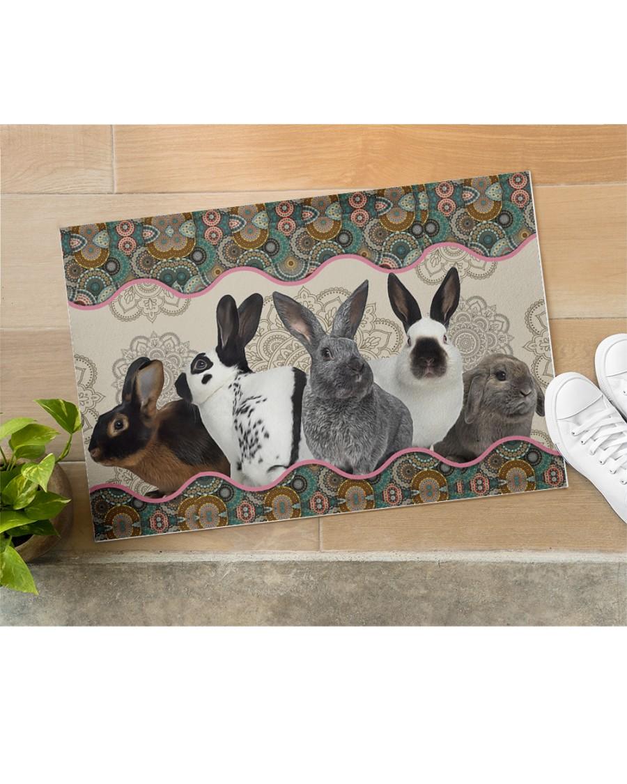 vintage mandala rabbit full printing doormat 5