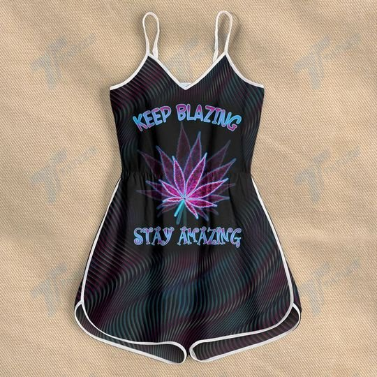 weed keep blazing stay amazing all over print rompers 2