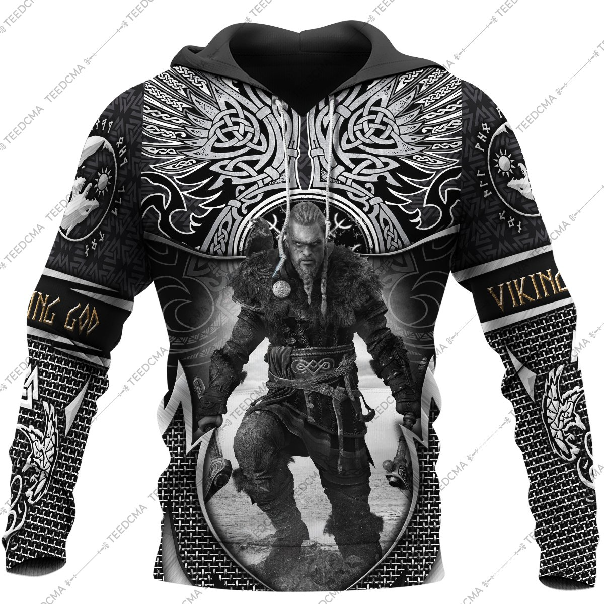 assassin's creed valhalla viking all over printed shirt 1