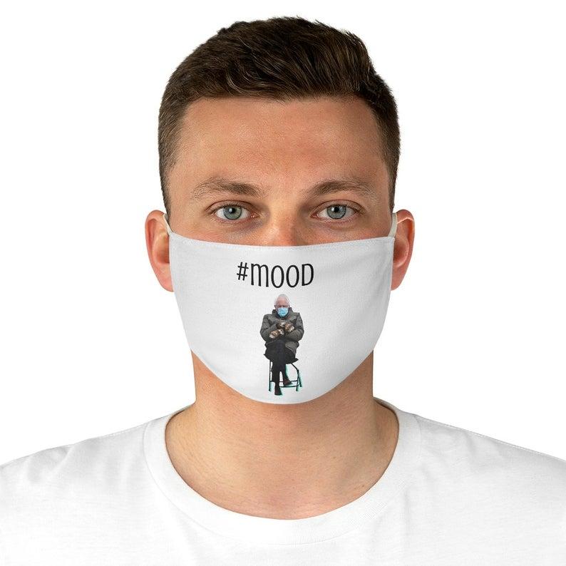 bernie in chair bernie sanders mittens fabric face mask 3