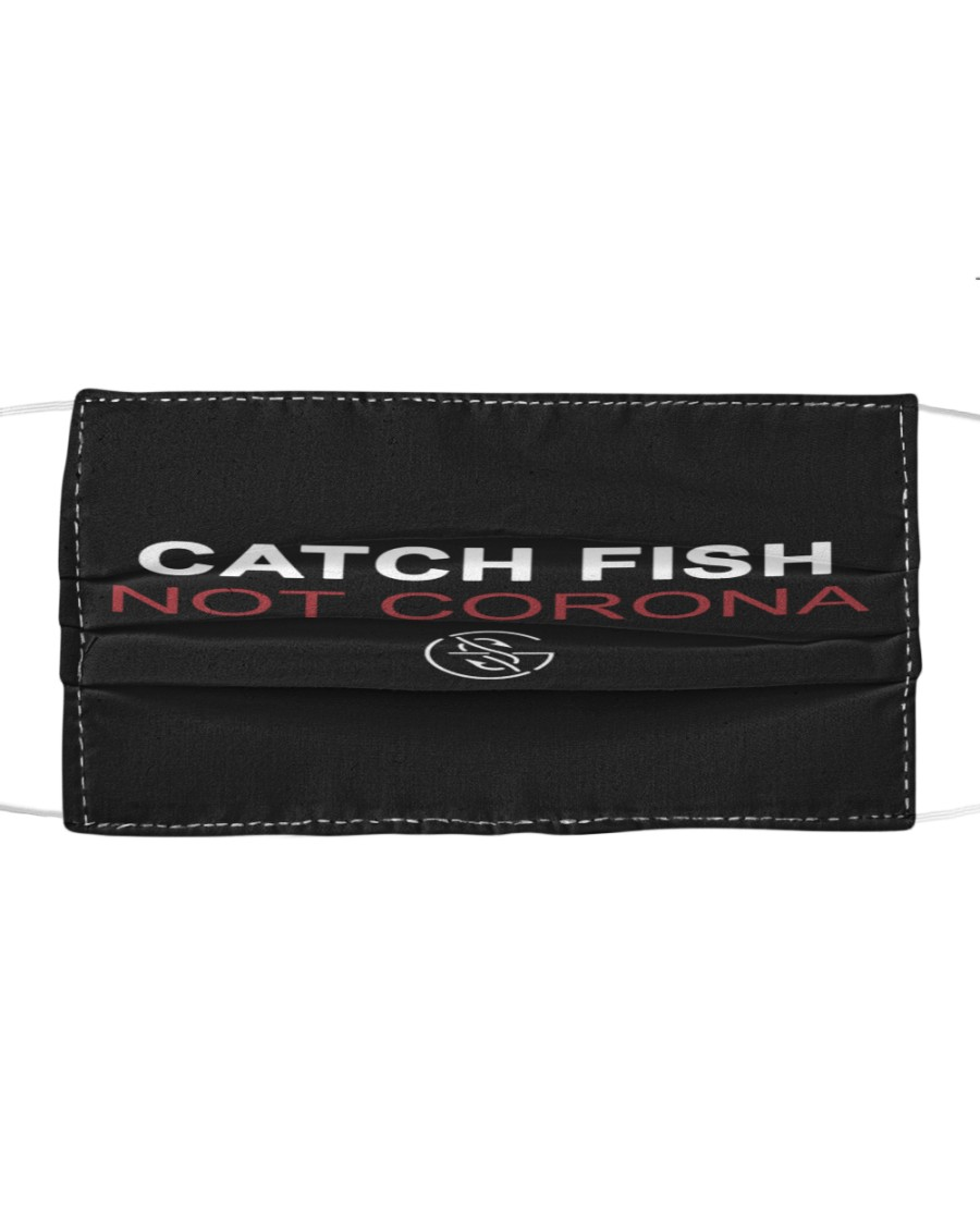catch fish not corona all over print face mask 2
