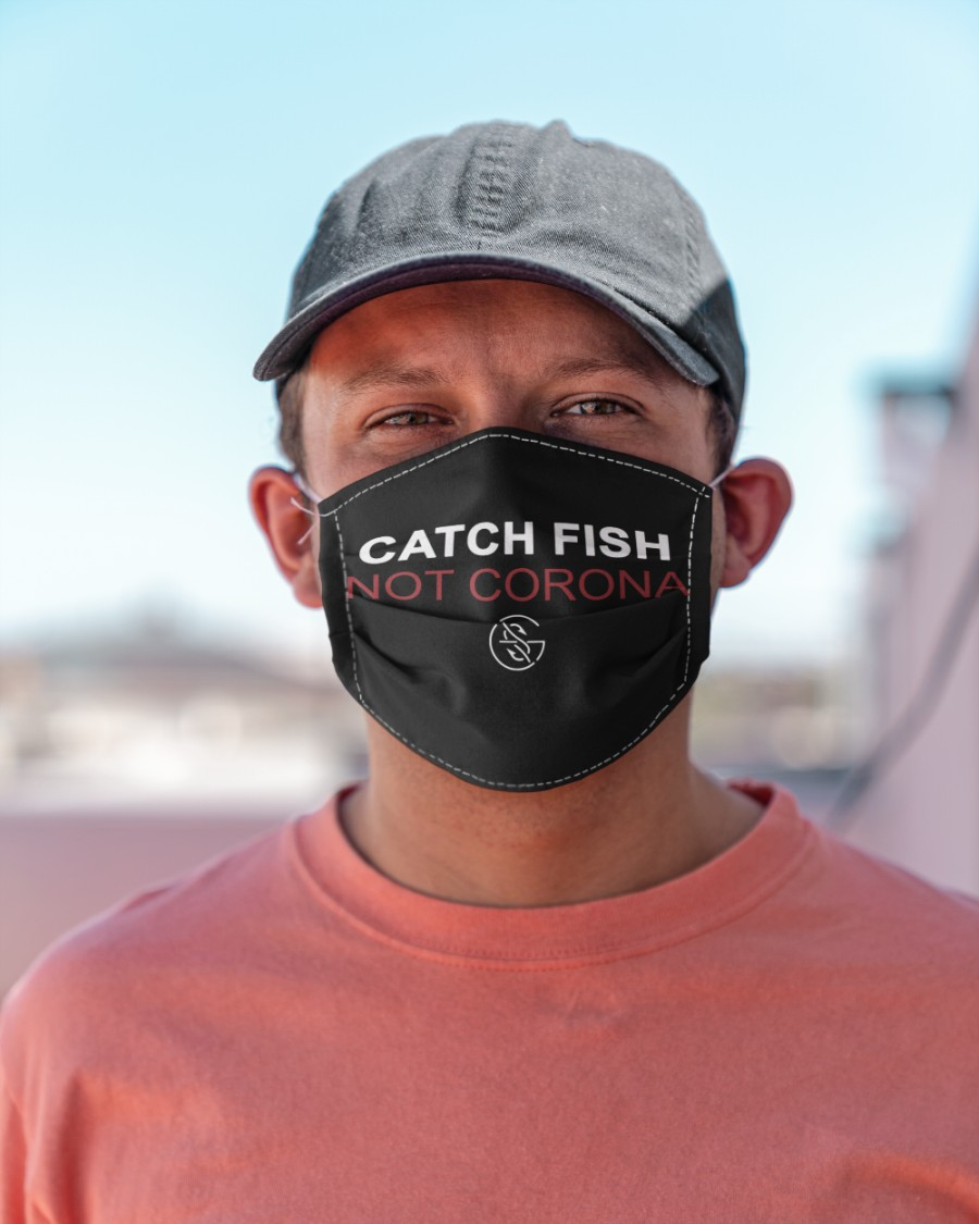 catch fish not corona all over print face mask 3