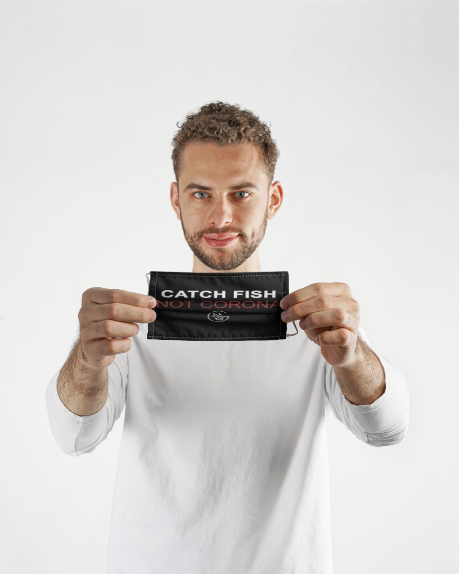 catch fish not corona all over print face mask 4