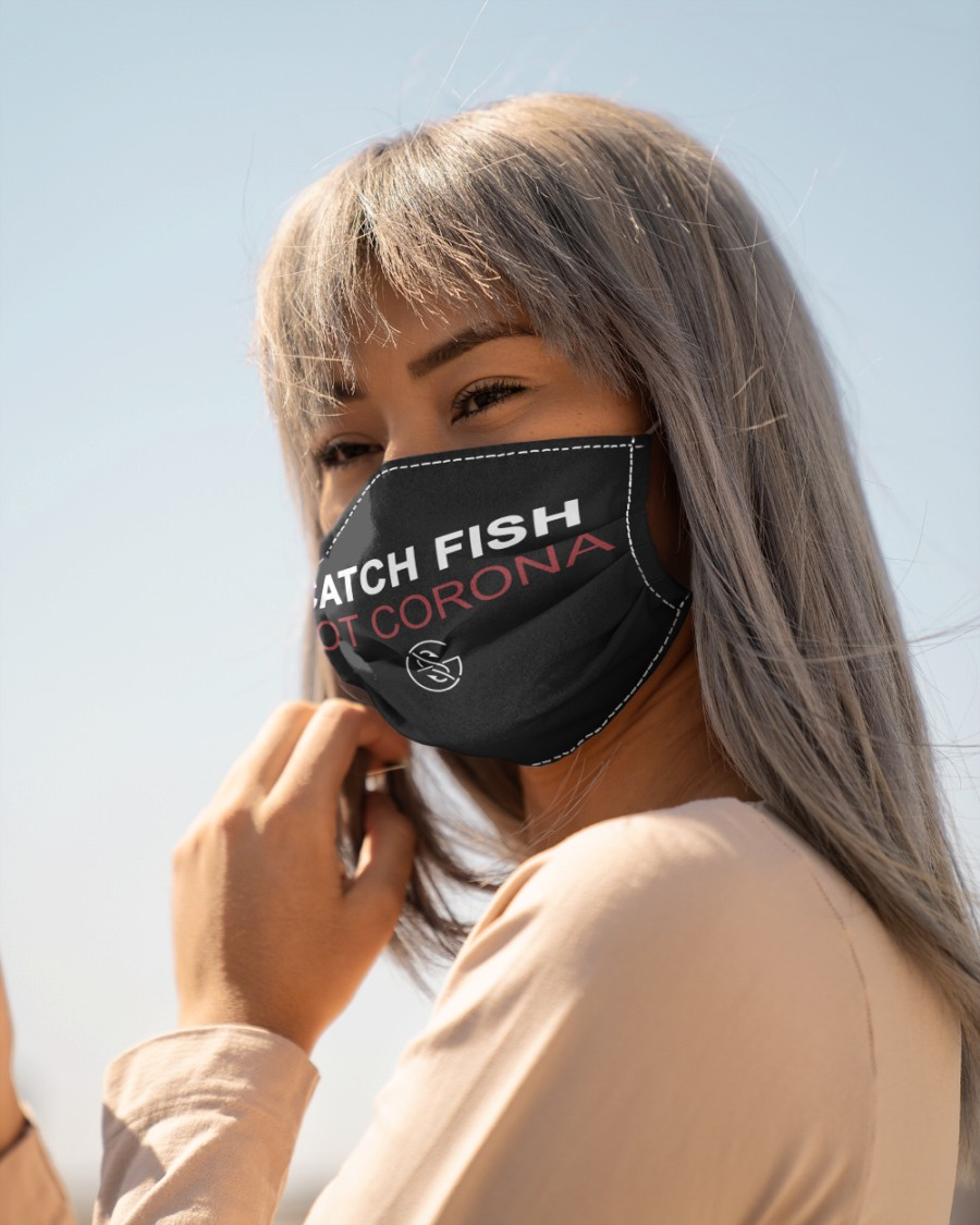 catch fish not corona all over print face mask 5