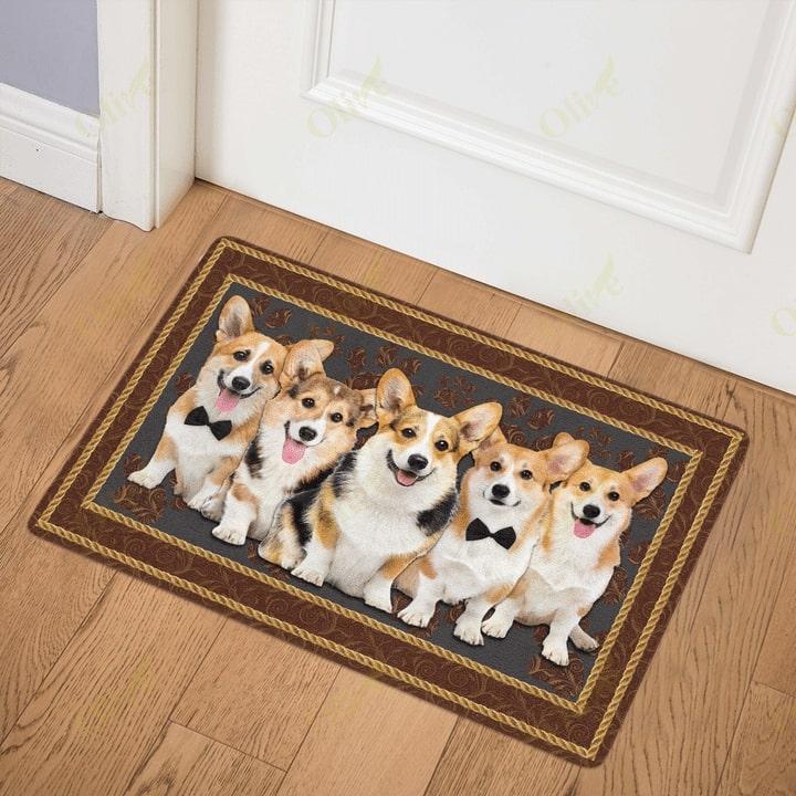 dog corgi welcoming you doormat 3