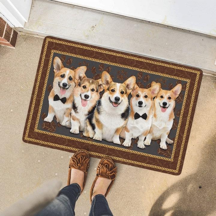 dog corgi welcoming you doormat 4