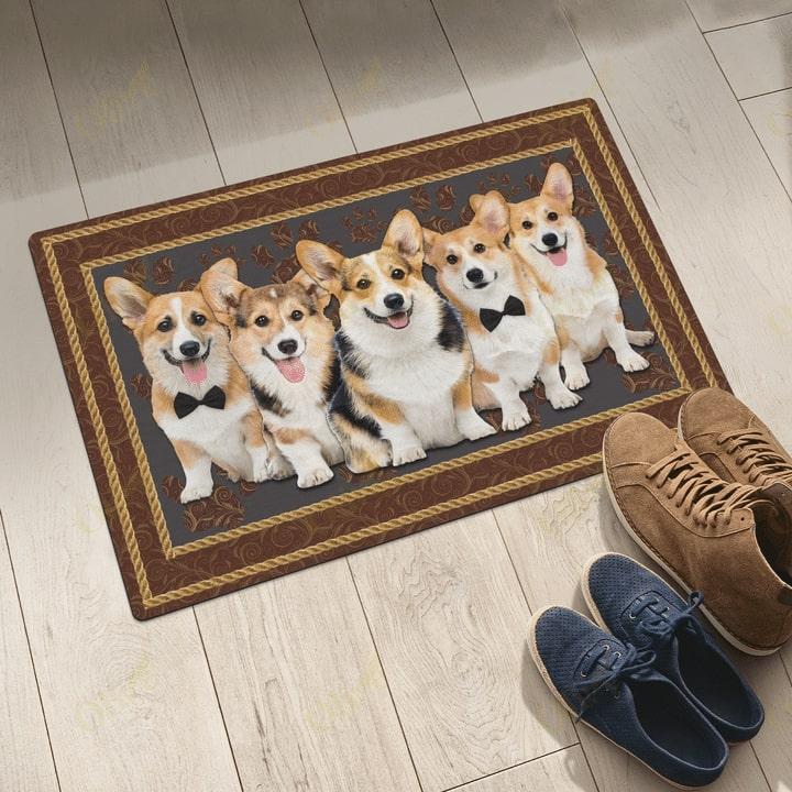 dog corgi welcoming you doormat 5