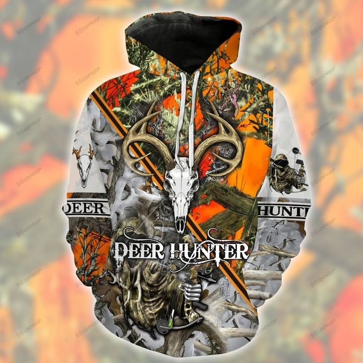 love hunting deer bow deer hunter all over printed shirt 1