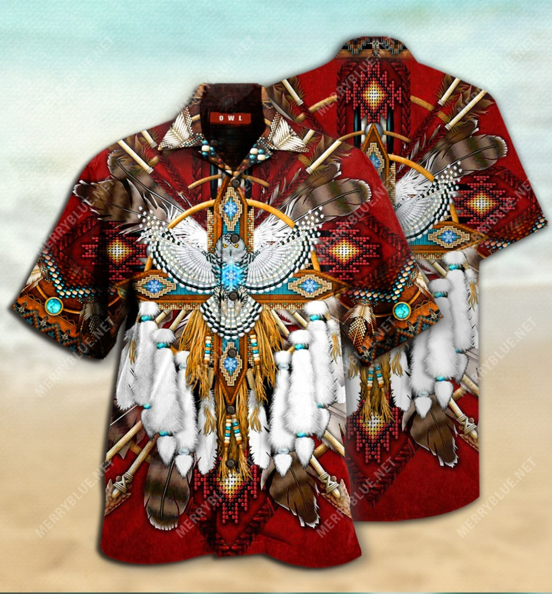 native american symbol all over printed hawaiian shirt 2