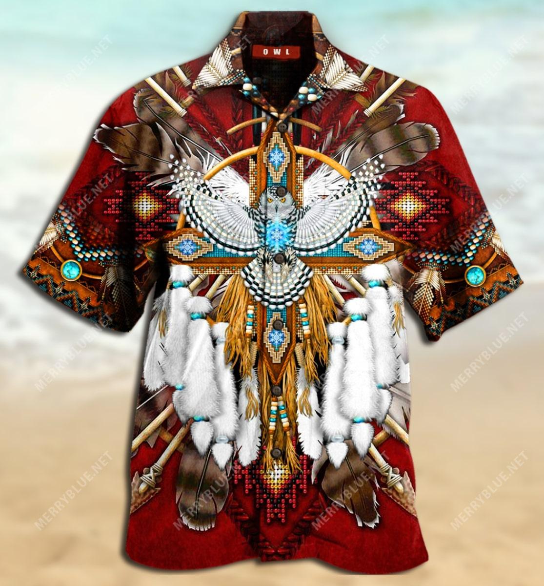 native american symbol all over printed hawaiian shirt 4