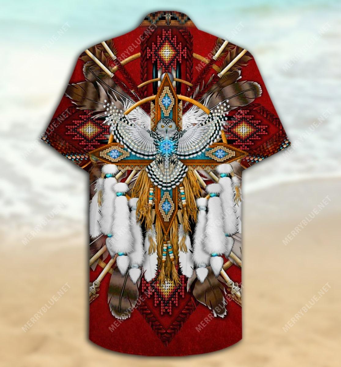 native american symbol all over printed hawaiian shirt 5
