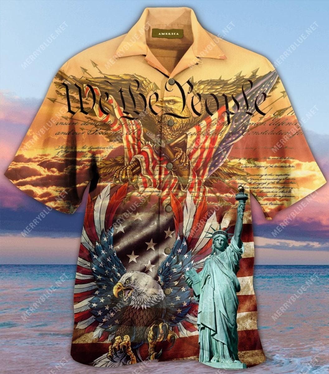 patriotism american flag eagle all over printed hawaiian shirt 4