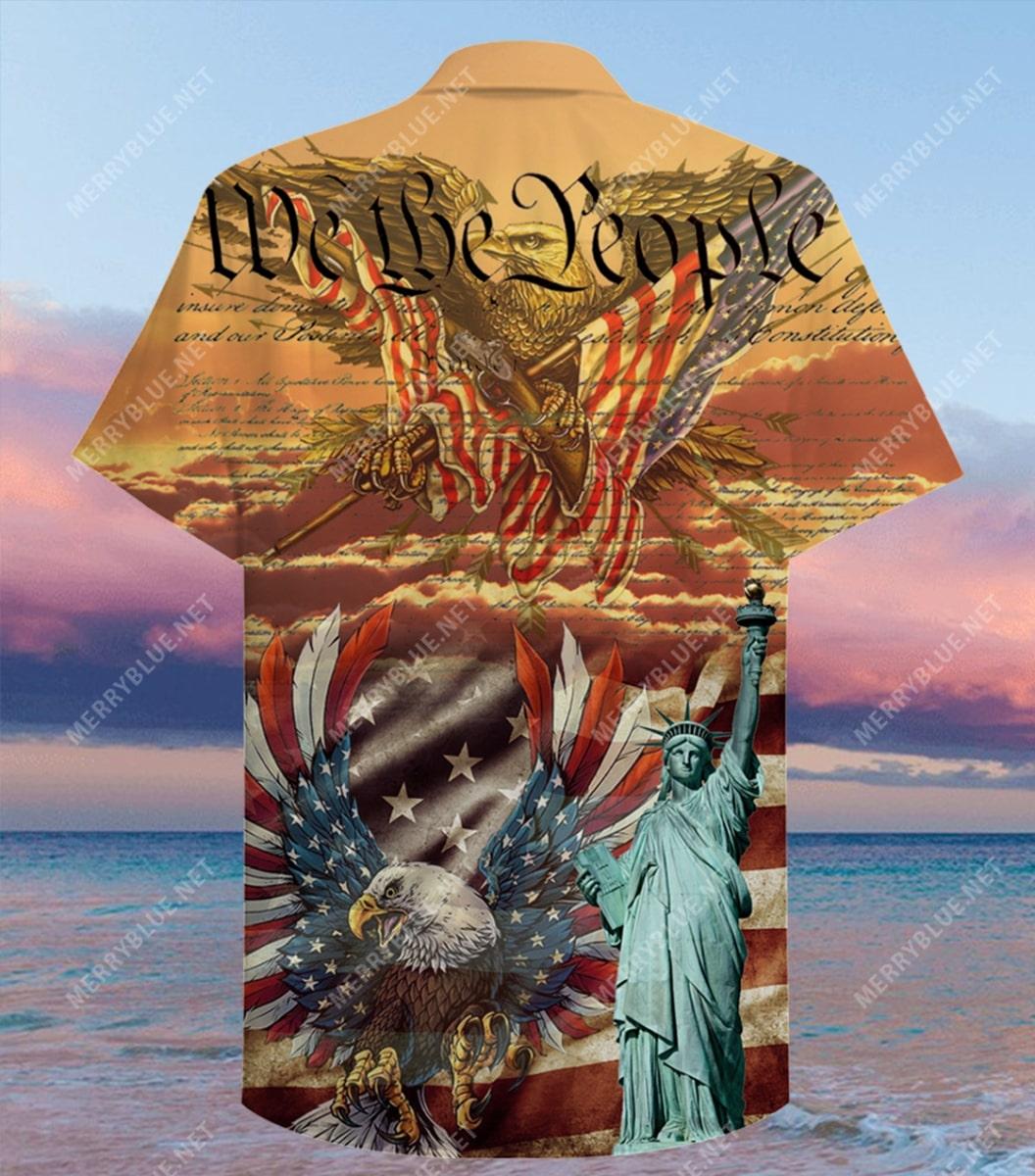 patriotism american flag eagle all over printed hawaiian shirt 5