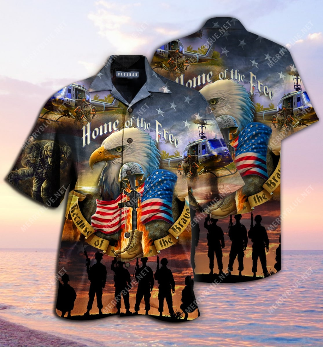 remember the days veteran home of the free all over printed hawaiian shirt 3