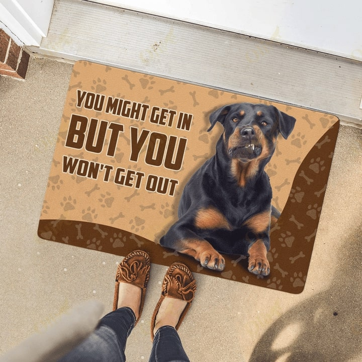 rottweiler you might get in but you wont get out doormat 4