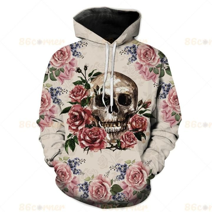 the skull and rose all over printed shirt 1