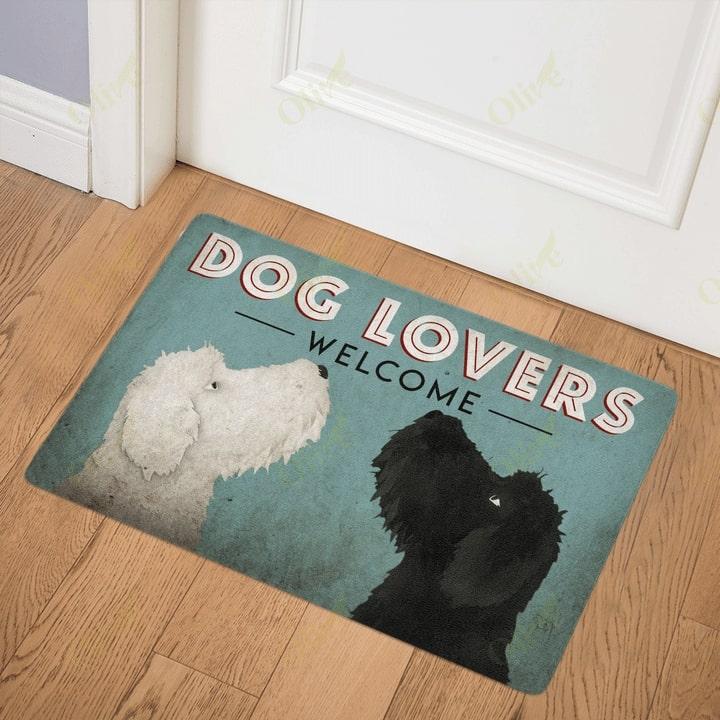 vintage goldendoodle double trouble doormat 3