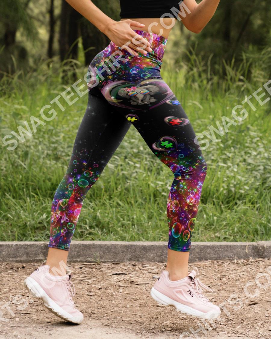autism awareness elephant all over printed high waist leggings 5(1)