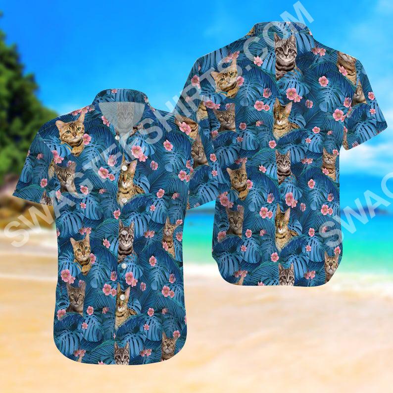 cat summer vacation all over printed hawaiian shirt 2(1)