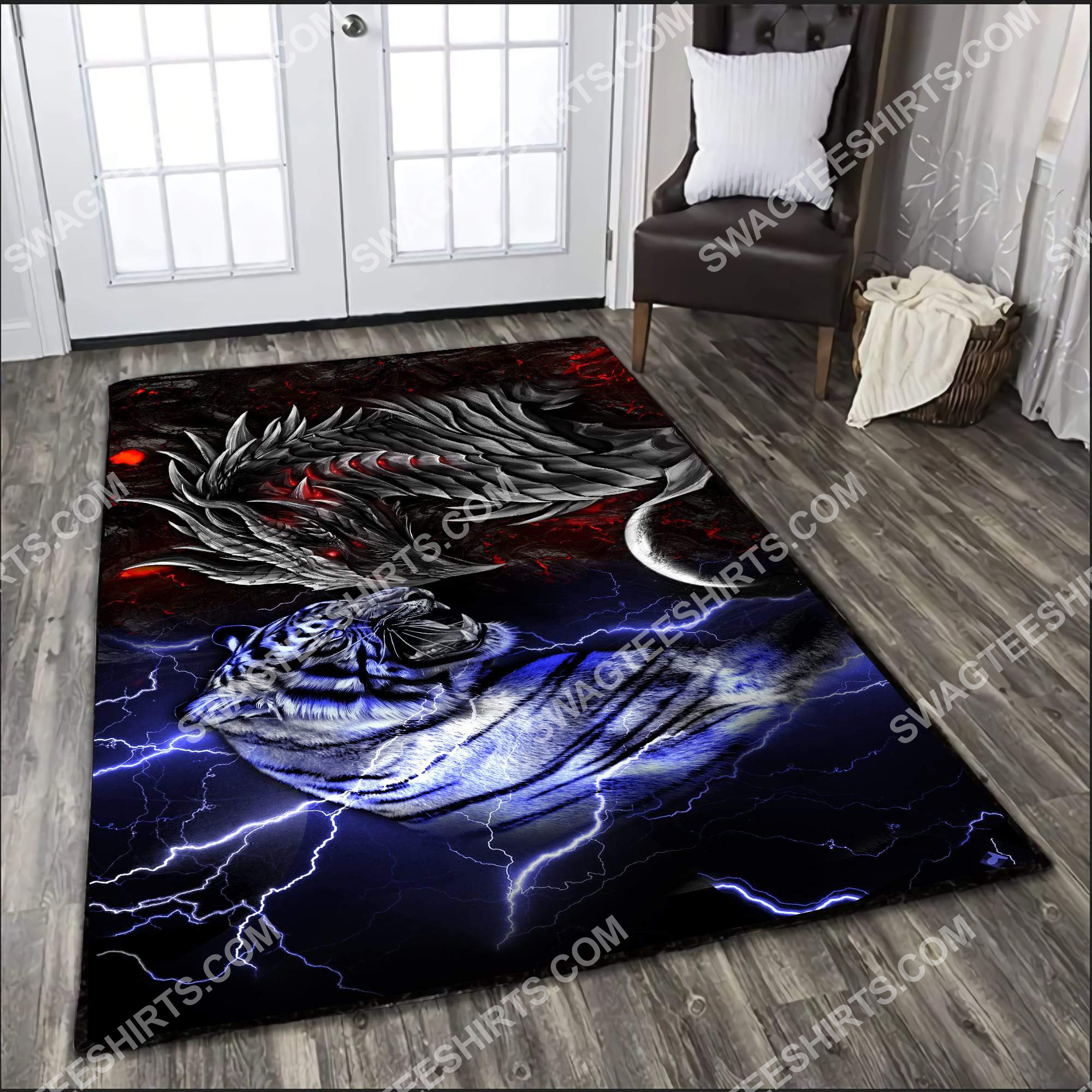 dragon and tiger fire and ice all over printed rug 3(1) - Copy