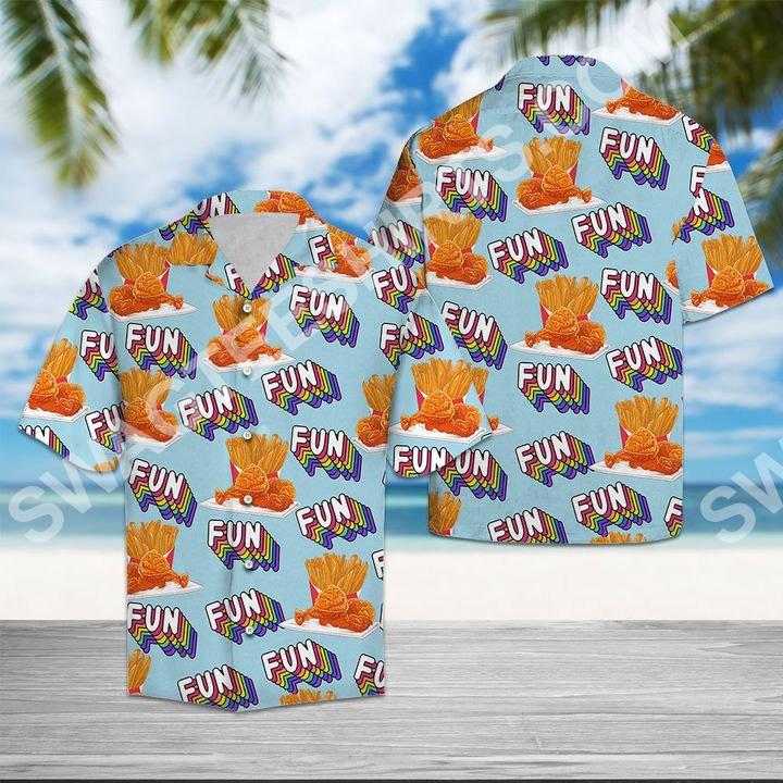 fried chicken fun summer all over printed hawaiian shirt 2(1)