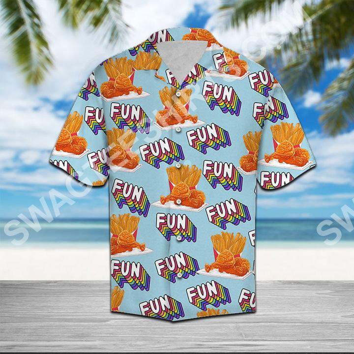 fried chicken fun summer all over printed hawaiian shirt 3(1)