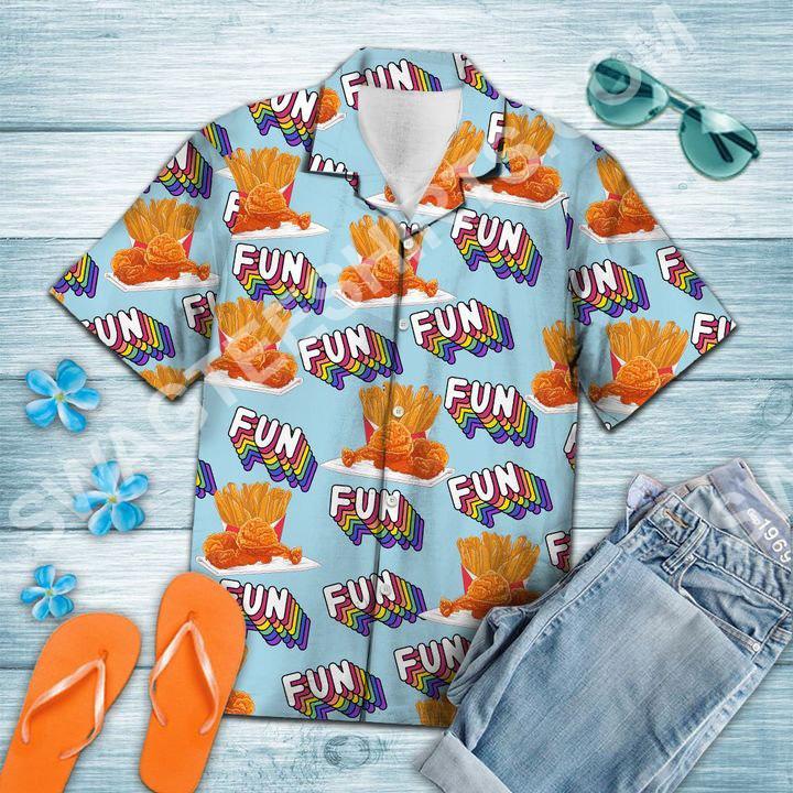 fried chicken fun summer all over printed hawaiian shirt 4(1)