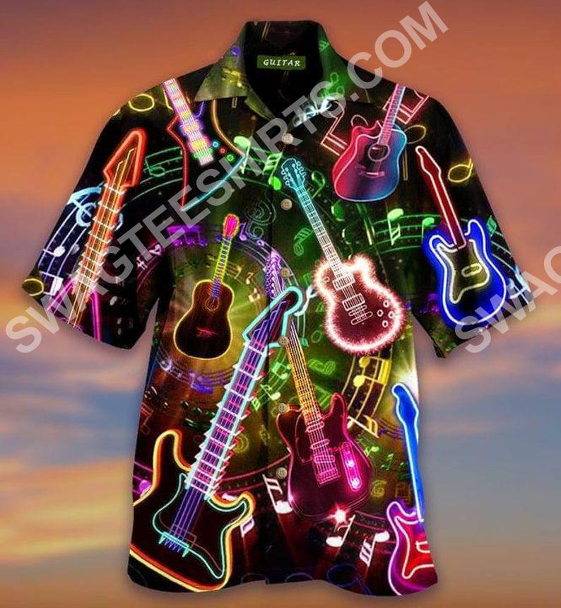 guitar bass music lover all over printed hawaiian shirt 2(2) - Copy
