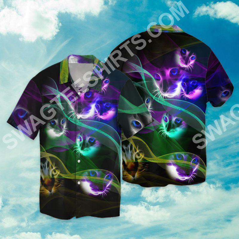 magic cats all over printed hawaiian shirt 2(1)