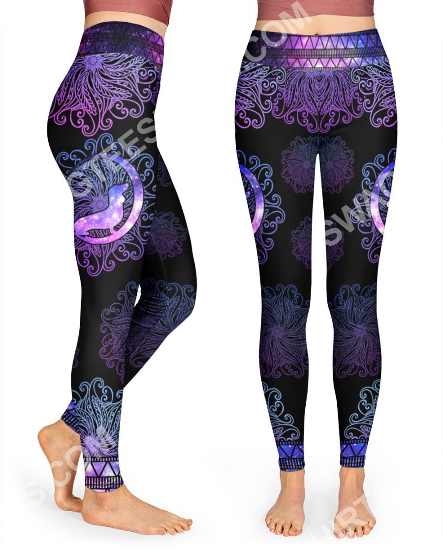 mandala dog dachshund all over printed high waist leggings 2(1)