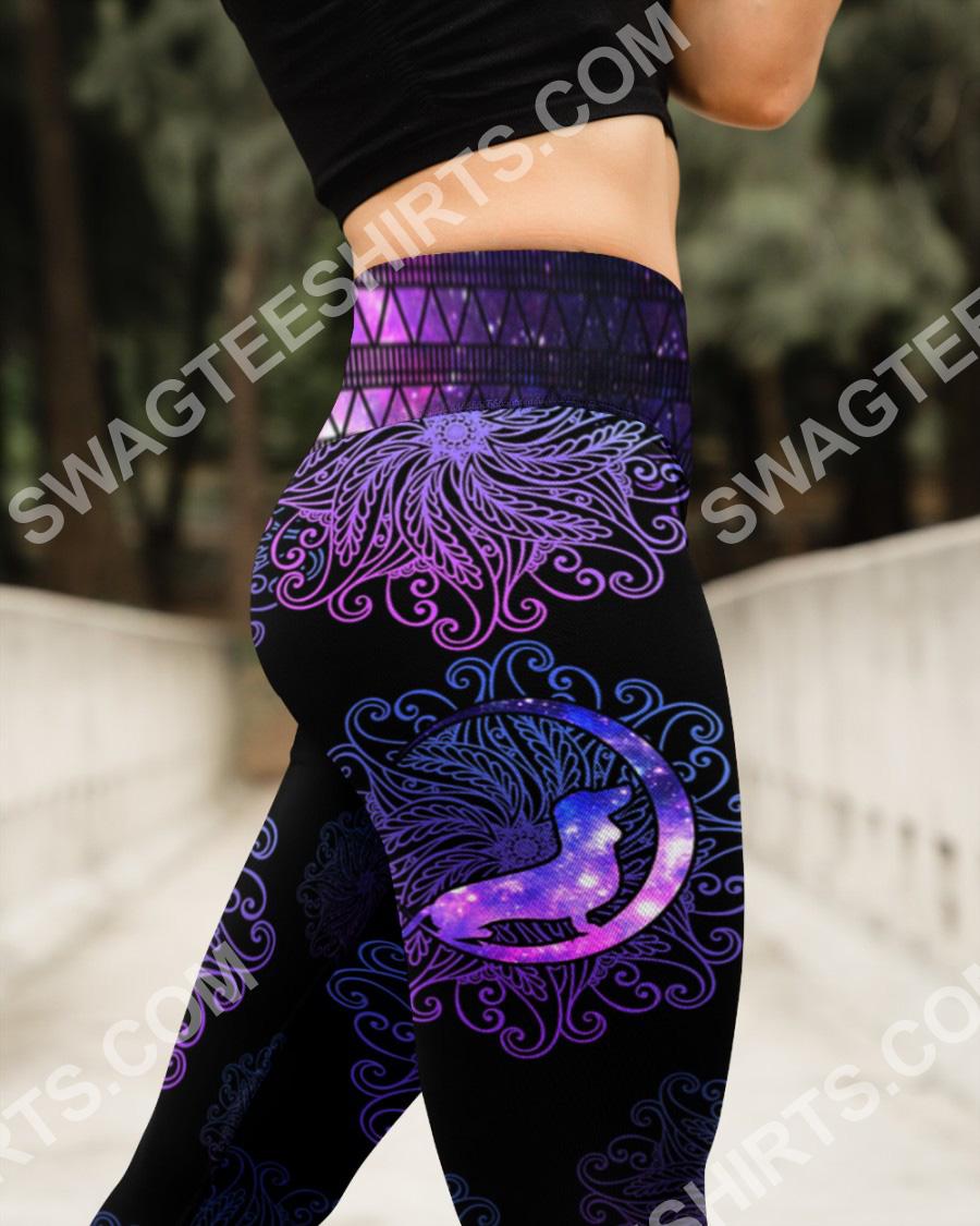 mandala dog dachshund all over printed high waist leggings 3(1)