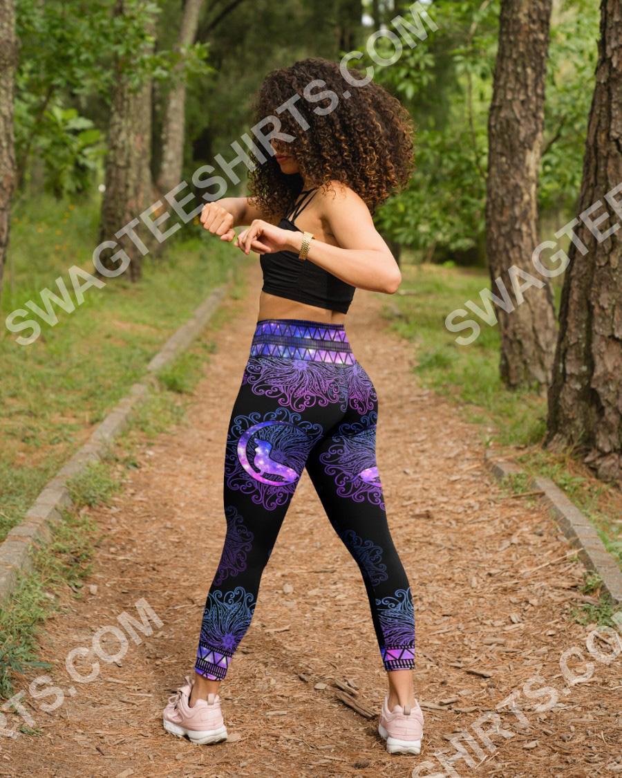 mandala dog dachshund all over printed high waist leggings 4(1)