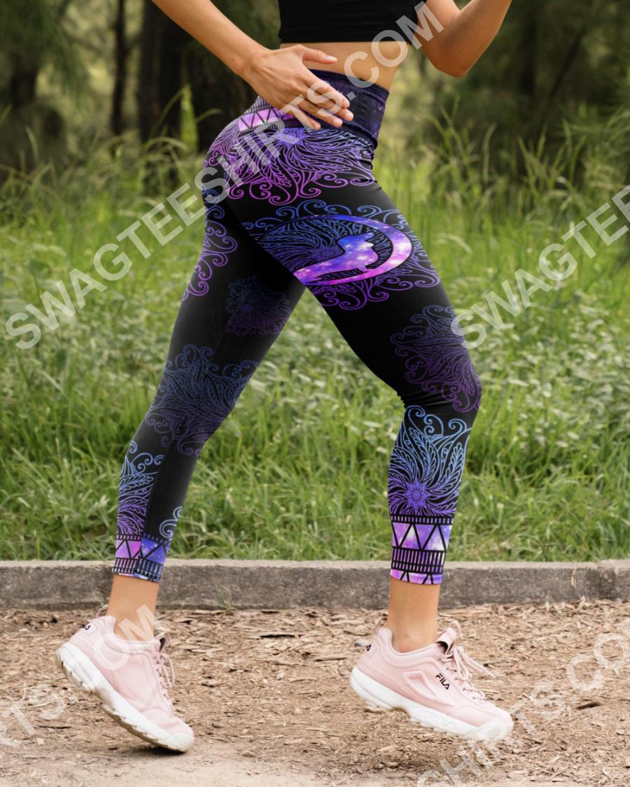 mandala dog dachshund all over printed high waist leggings 5(1)