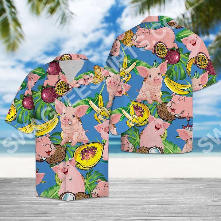 pig love fruit all over printed hawaiian shirt 2(1) - Copy
