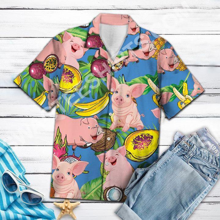 pig love fruit all over printed hawaiian shirt 3(1)