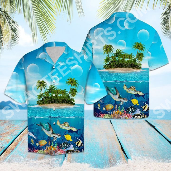sea turtle island all over printed hawaiian shirt 2(1)