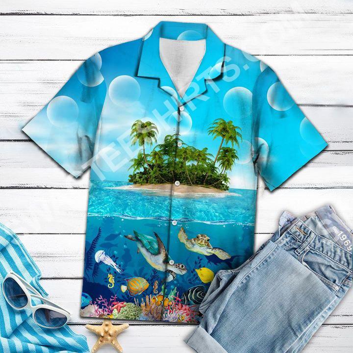 sea turtle island all over printed hawaiian shirt 3(1)