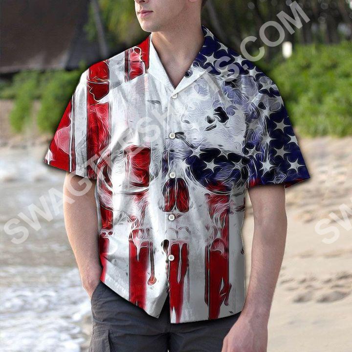 skull usa flag all over printed hawaiian shirt 2(1)