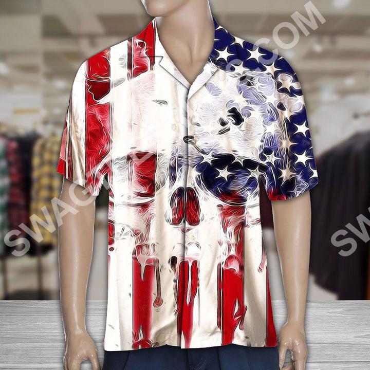 skull usa flag all over printed hawaiian shirt 3(1)