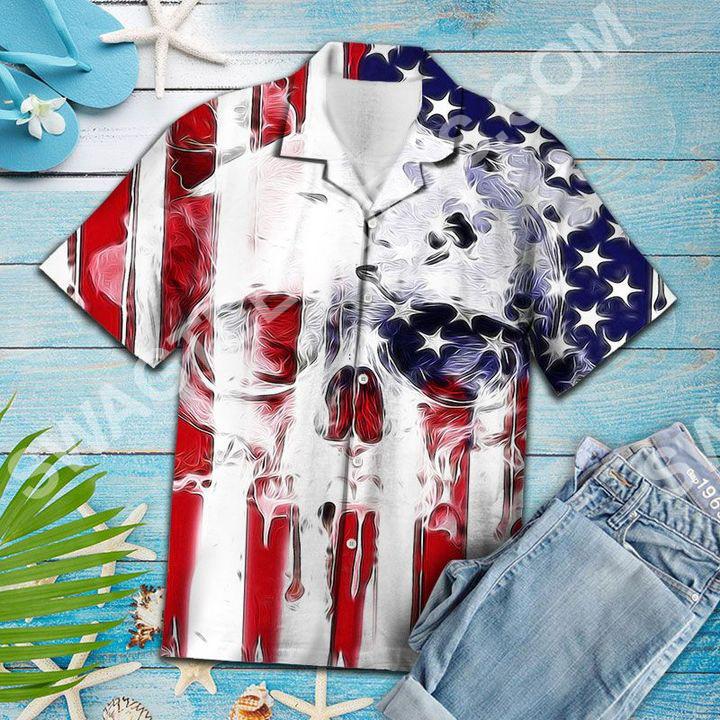 skull usa flag all over printed hawaiian shirt 4(1)