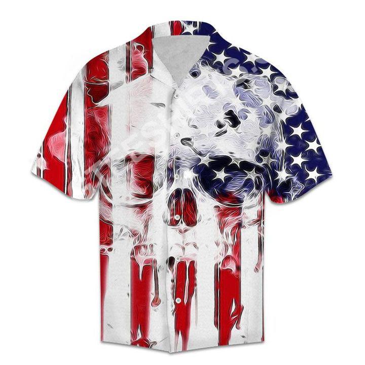 skull usa flag all over printed hawaiian shirt 5(1)