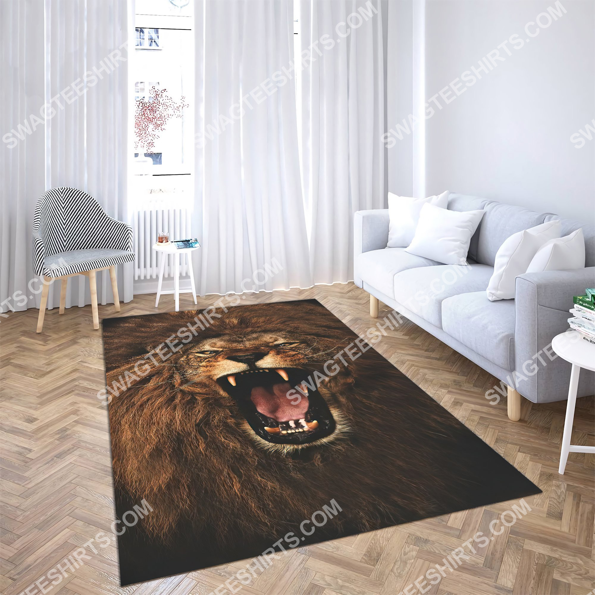 the alpha king lion all over printed rug 3(1)
