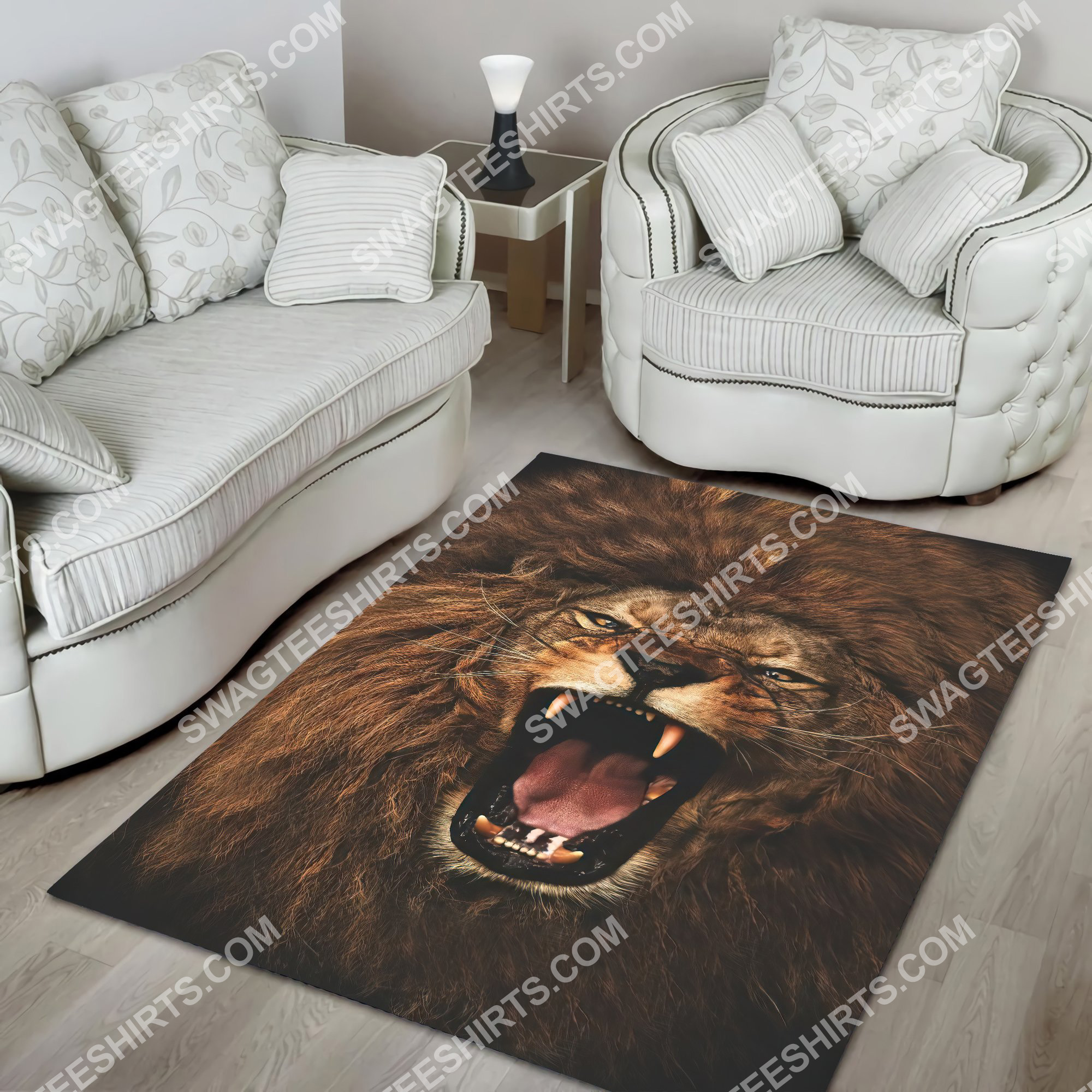 the alpha king lion all over printed rug 4(1)