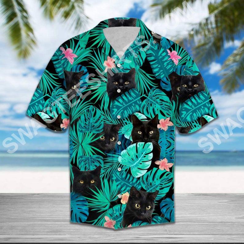 the black cat all over printed hawaiian shirt 2(1)