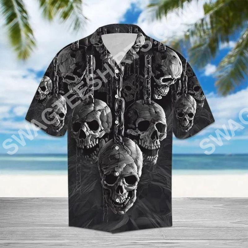 the skull all over printed hawaiian shirt 2(2) - Copy