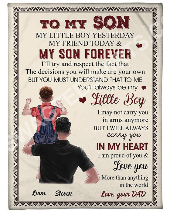 to my son my little boy yesterday my friend today and my son forever blanket 2(1)