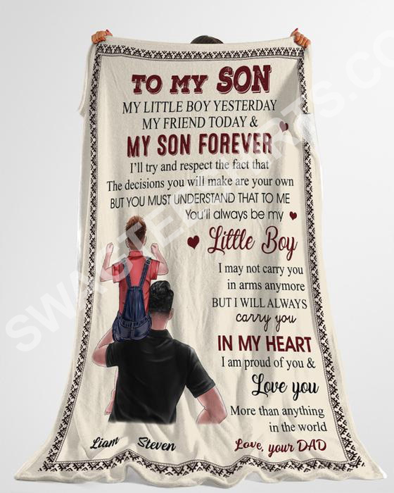 to my son my little boy yesterday my friend today and my son forever blanket 5(1)