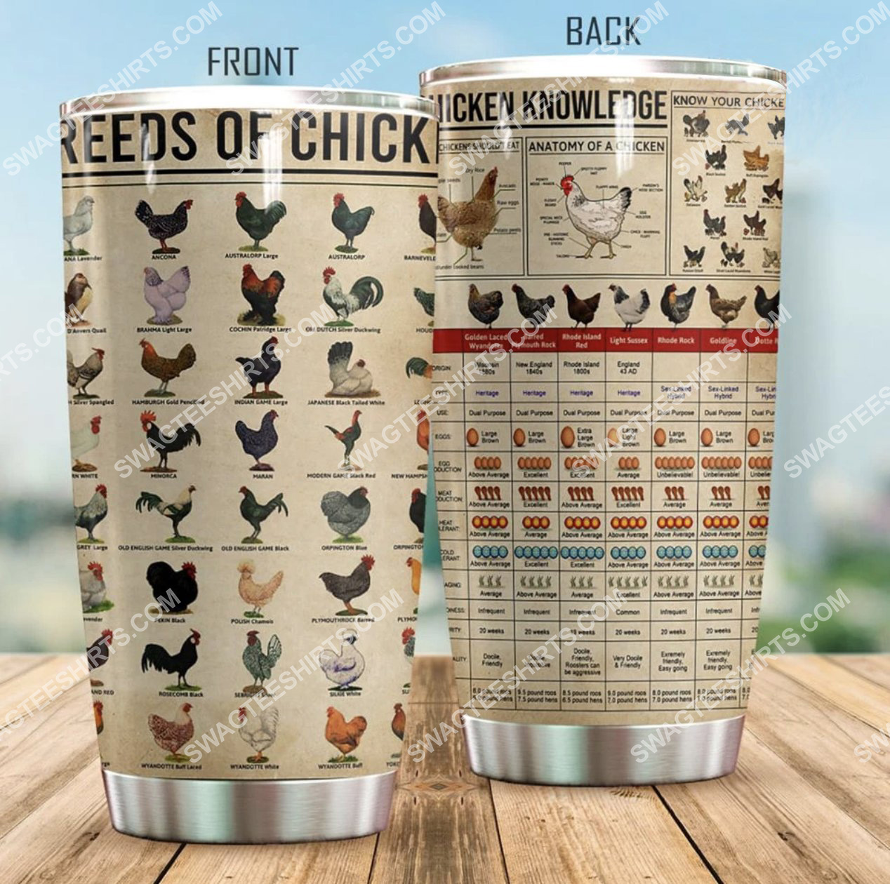 chicken knowledge all over printed stainless steel tumbler 2(1) - Copy