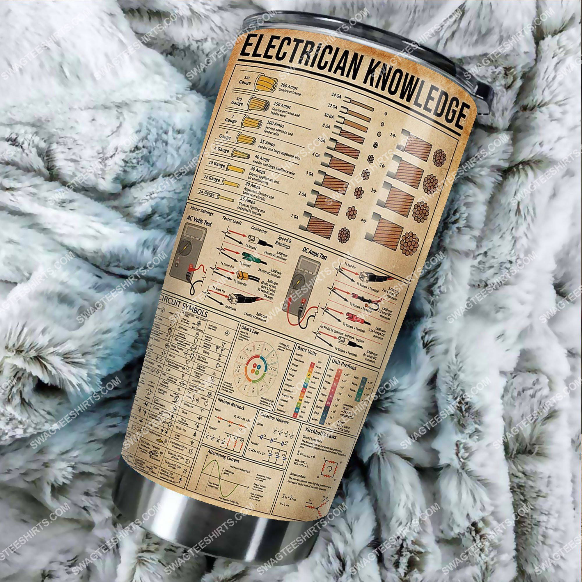 electrician knowledge all over printed stainless steel tumbler 2(1) - Copy