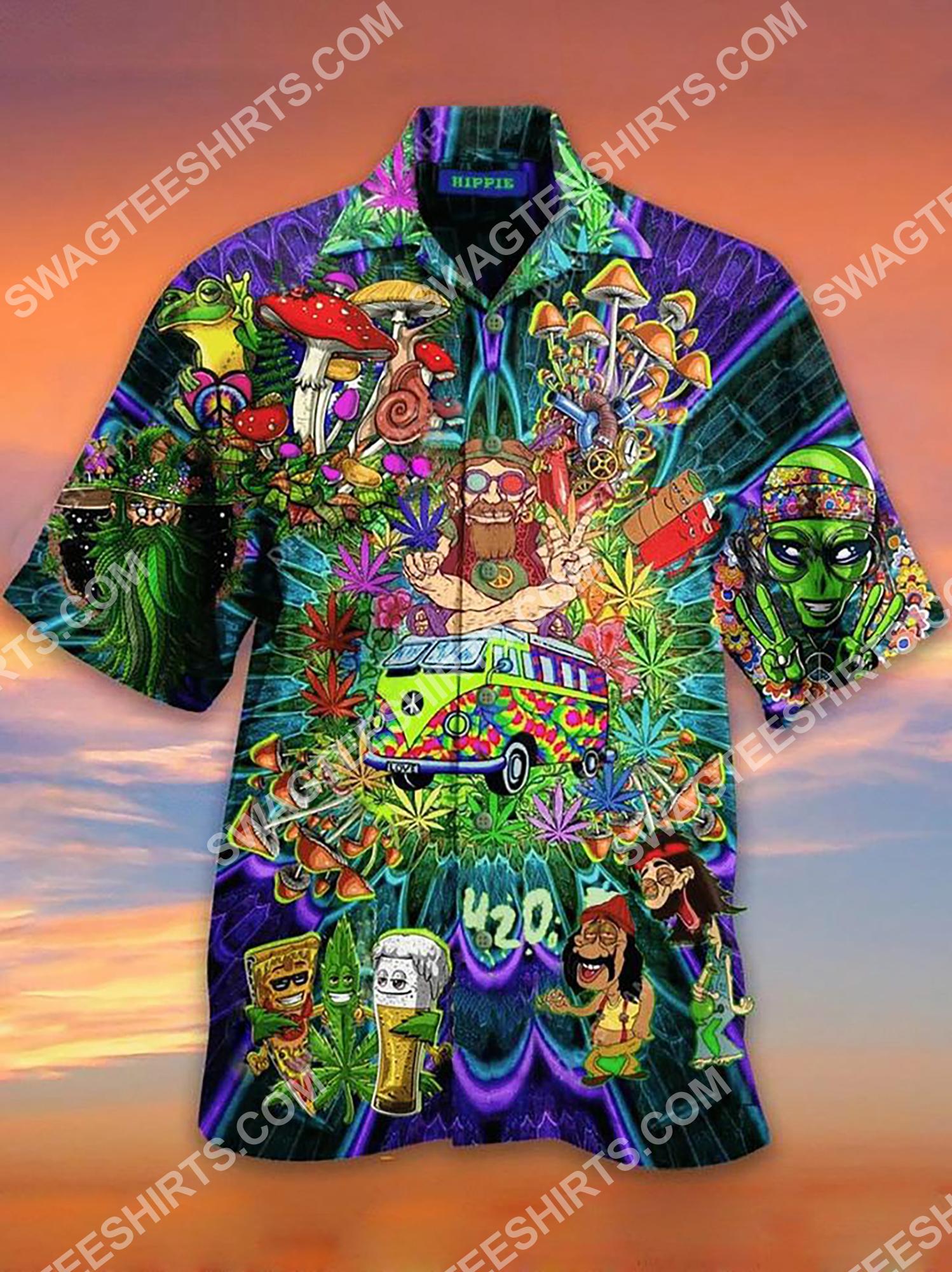 hippie mushroom all over printing hawaiian shirt 2(1)
